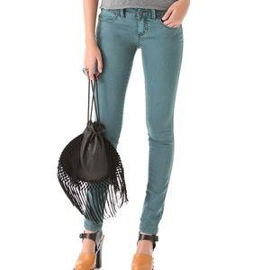 Free People Millennium Turquoise Skinny Jeans